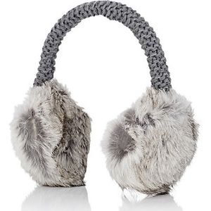 Hat Attack Grey Fur Earmuffs